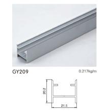 Eloxierter silberner Aluminium-Schrank-Türschiene