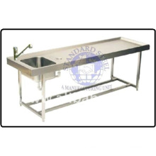 Stainless Steel Postmortem Dissection Table