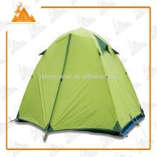 Открытый спорт бислой алюминиевый полюс большой кемпинг водонепроницаемый две палатки палатки силиконовые ткани