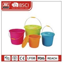 seau en plastique w/couvercle 3L / 4L / 5L / 9L / 16L