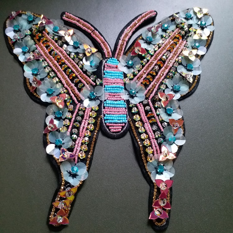 Butterfly Beaded Patches