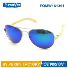 Fqmw161391 хорошее качество металла Sunglass с бамбуковый храм