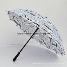 16 K Stahl Skelett Regenschirm Ruten