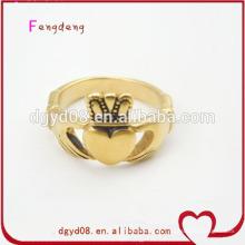Fabricante de anel de coroa de ouro em aço inoxidável