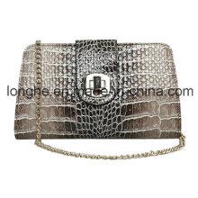 Cerradura-cierre de bolsillo brillante de moda de cocodrilo (ly0072)