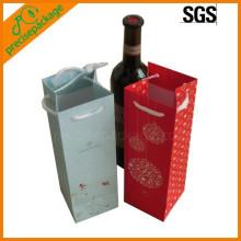 sacs de bouteille de vin de papier de corde de coton de vente chaude réutilisable bon marché