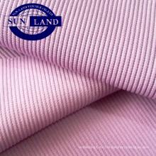 El proveedor chino hizo punto la tela de la costilla del spandex de algodón 2 * 2