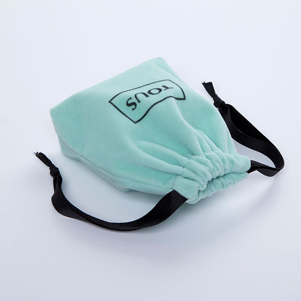 mint green mini velvet pouch