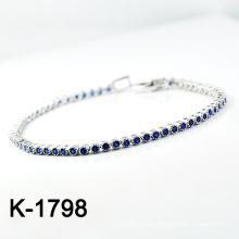 El micr3ofono de la plata de la manera pavimenta la pulsera de la joyería de la configuración de la CZ (K-1798. JPG)