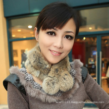 Lady Fashion Rabbit Fur Scarf (YKY4360)