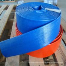 Preço competitivo flexível colorido anti-UV PVC Layflat mangueira