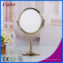 Fyeer moderno banhado a ouro rodada espelho de maquilhagem (M5108G)