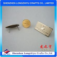 Insignia profesional del logotipo del metal del diseño para los bolsos
