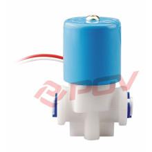 Válvula solenóide de plástico de água com ação direta
