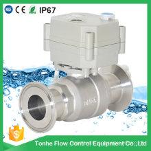 1 '' 304stainless aço motorizado sanitárias atuador elétrico válvula de esfera (T25-S2-BQ)