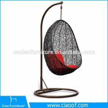 Chaise accrochante d'oeuf de meubles extérieurs