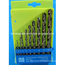 10PCS HSS Twist Drill Bit Set with Plastic Package