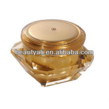 elegant cosmetic acrylic diamond jar packaging for cream