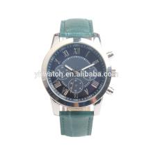 Reloj de correa de cuero numérico romano, moda casual de negocios, resistente al agua y cómodo