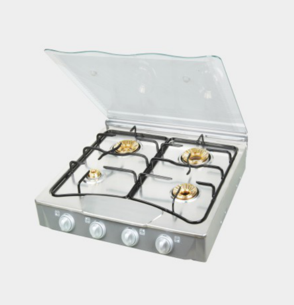 4 Burner Tabletop Glass Gas Stove