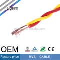 SIPU flexible 450 / 750V PVC torcido eléctrico 0.5 mm cuadrados rvv cable eléctrico rvs cable