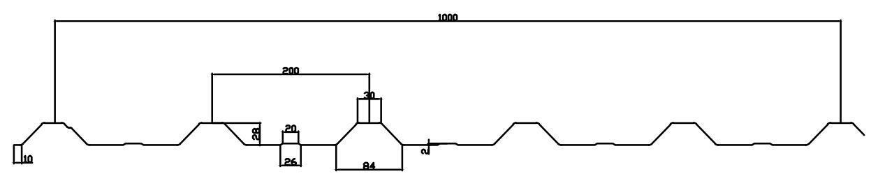 IBR roof sheet profile machine