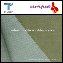 fios de viscose de sarja de algodão cáqui tingidos tecido tecido elástico com slub para uniforme