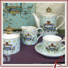 Olla de té de cerámica olla de azúcar olla de leche conjunto