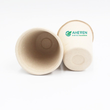 Factory Wholesale Biodegradable Food Grade Sugarcane Bagasse Coffee Travel Mug Cups With Lid