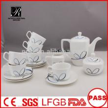 P & T 2015 novo produto 15pcs estações de design China porcelana conjunto de chá conjunto de café