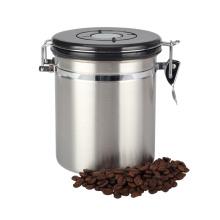 Герметичная канистра для кофе из нержавеющей стали с циферблатом даты