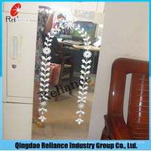 1.5mm / 1.8mm entworfener Spiegel / gedruckter Spiegel / Bogenspiegel / Aluminiumspiegel / silberner Schirm-Spiegel / Möbel-Spiegel