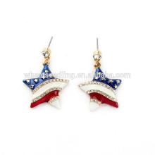 USA flag star stripe colored hoop old model earrings wholesale lot