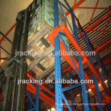 Estante de la plataforma de la solución del almacenamiento del almacén de la fábrica del estante de China Conduzca en estante
