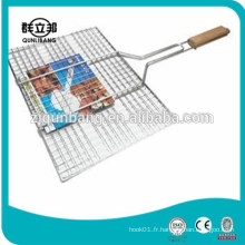 Manche en bois barbecue barbecue en maille, grillage grill barbecue