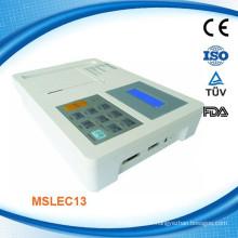 MSLEC13W 2015 Nouveau CE et ISO prouvé Portable Digital Three et Six Channel ECG