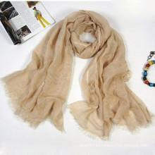 Bufanda de alta calidad de lino de tamaño infinito mezclada con seda