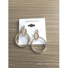 Gold Plated Hook Metal Earrings Fashion Jewellery