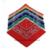 OEM Produce Customized Logo Printed Promotional Cotton Paisley Bandana Headwrap