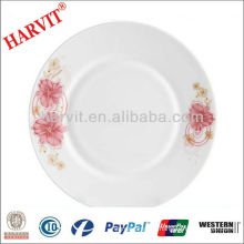 Various sizes round opal glassware plate heat resistant