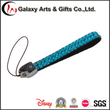 Colhedor de cristal curto com String Cellphone