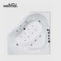 Corner Drop-in & Whirlpool Tub di White
