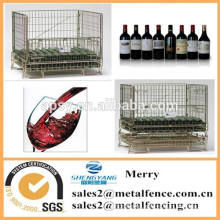 stainless steel collapsible metal wire mesh rolling container baket