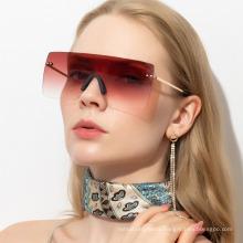 Glide Color Large Square Sunglasses Rimless Glasses Integrated Sunglasses