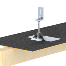 Asphalt blinkendes Dach Solar Montagesystem schwarz blinkendes Panel Kit