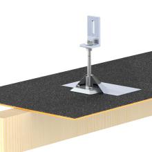 Panel solar Montaje a prueba de agua Asphalt Shingle Roof Solar Kit Roof Rack