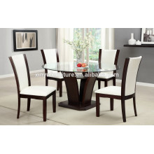 Dining glass top table and chair for living room XYN1504