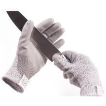 Level 5 Anti Proof HPPE Gestrickte PU-Palmen No-Cut-Handschuhe
