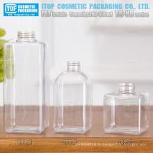 ТБ-КБ серии 250 мл 300 мл и 600 мл специальных рекомендуется multi использование-продавец хорошее качество дует квадратных ПЭТ пластиковые бутылки