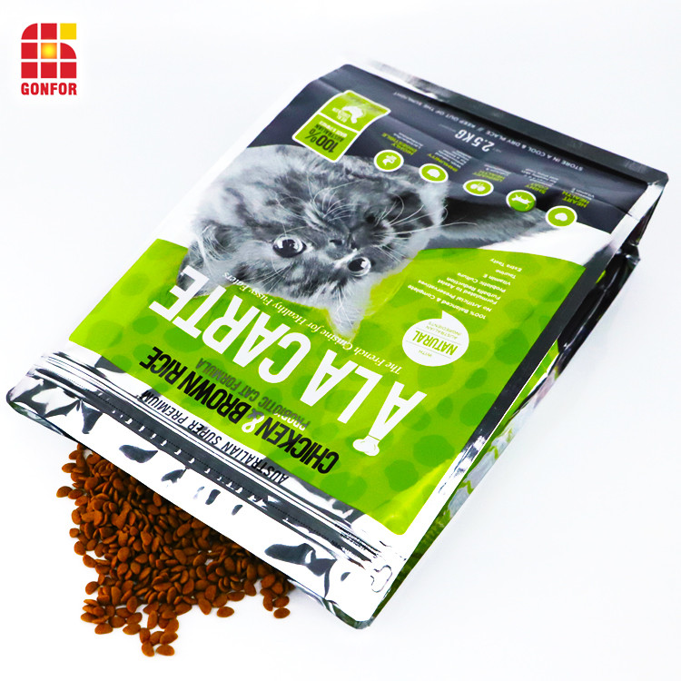 Aluminum Flat Bottom Pouch Bag Of Cat Food